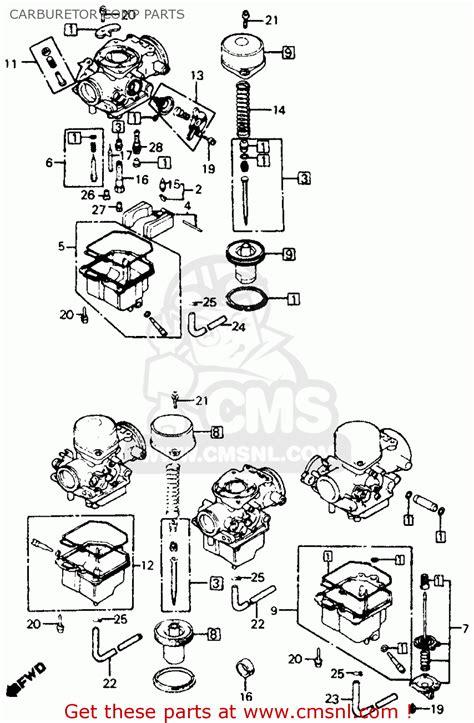 honda cbf  super sport   usa carburetor comp parts schematic partsfiche