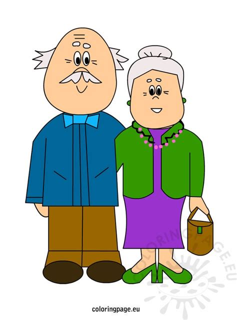 clipart nonni grandparent s day coloring page