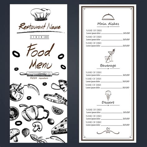 design menu free download restaurant menu design vector free download
