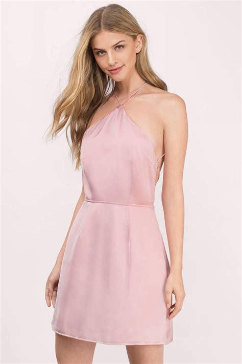 blush color dress blush dress halter dress blush skater dress