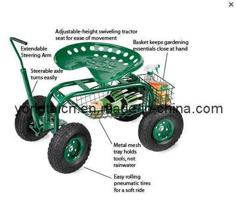 Rolling Garden Work Seat by Garden Seat With Wheels Garden Caddy Tractor Seat On