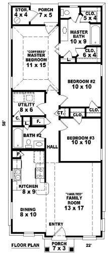 shotgun house layout doral house plan shotgun house plan house plans