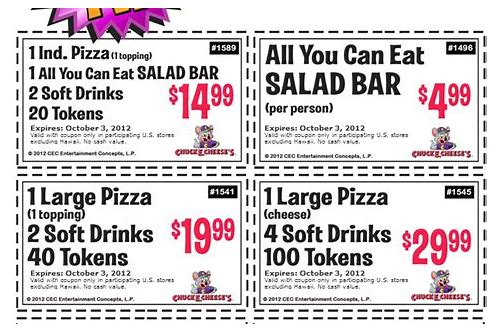 free coupon chuck e cheese