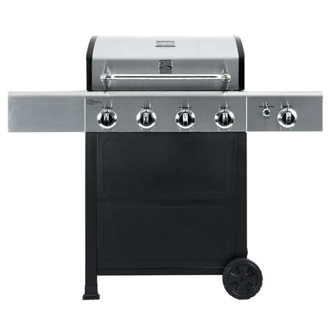 kenmore 4 burner stainless steel kenmore 4 burner propane gas grill in black and stainless