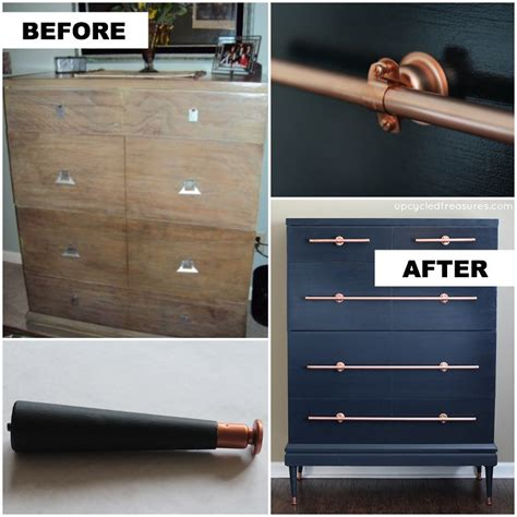 diy copper pipe drawer pulls upcycledtreasures