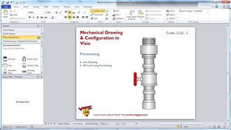 visio plumbing shapes mechanical drawing configuration in visio