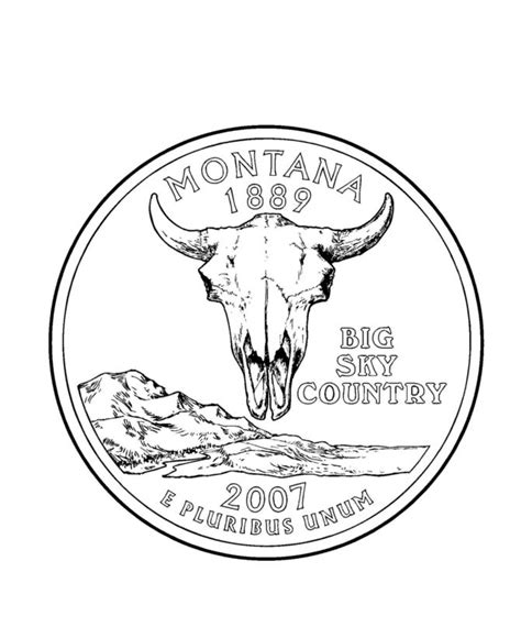 152 Best Usa State Quarters Images On Pinterest Mint Peppermint And The State Montana Coloring Pages