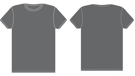 Grey T Shirt Template Com1005 Visual Composition Assignments Communication Technology