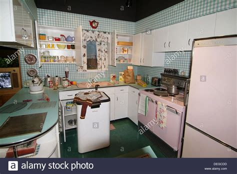 kitchen in a home c 1950 at michigan historical museum