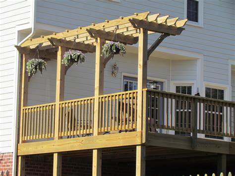 Deck With Pergola Midlothian Rva Remodeling Llc Pergolas On Decks