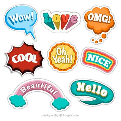 Sticker Lustig by Stickers Collection Vector Free