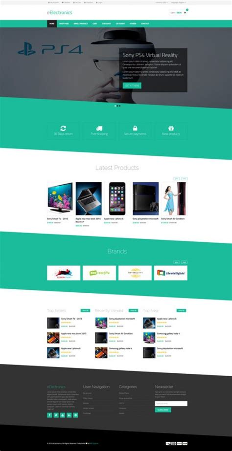 best e commerce site 25 best html ecommerce website templates free premium