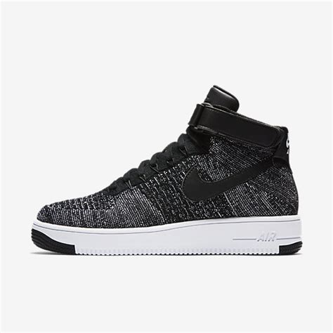 Sneakers Sepatu Nike Airforce Flyknit Racer Black White Premium nike air 1 ultra flyknit black white s shoes trainers clearance