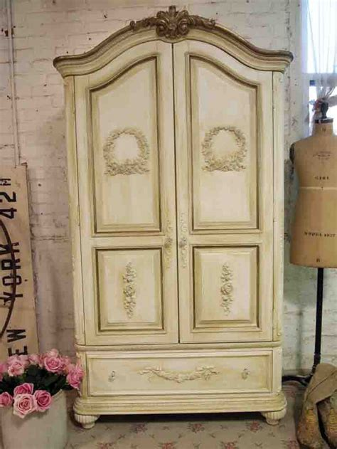 shabby chic armoire painted cottage chic shabby old world romantic french