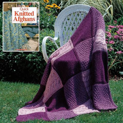 Knitted Patchwork Quilt Patterns - knitted afghan for a bridal shower two