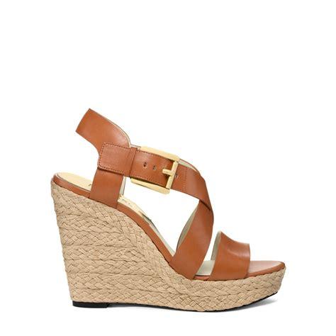 espadrille wedge sandal michael kors giovanna leather espadrille wedge sandal in