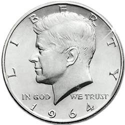 collectible coins of america 1964 kennedy half dollar the danbury mint