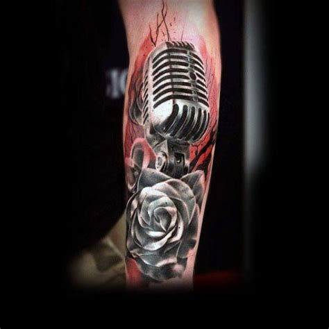 microphone rose tattoo 70 best microphone images on microphone