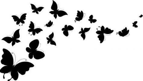 flying butterfly outline clip art 43