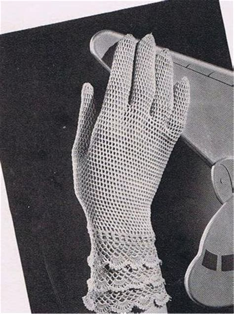 vintage glove pattern womens thread crochet vintage pattern gloves lace