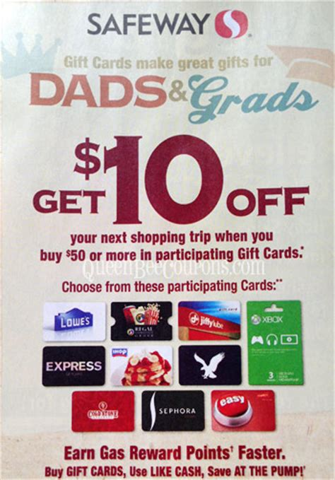 Safeway Gift Card Promotion - safeway gift card promo spend 50 get 10 back