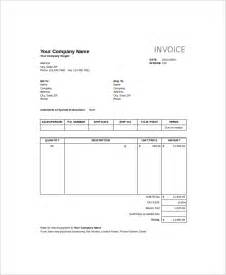 Sales Invoice Template Excel by Sle Excel Invoice Template 9 Free Documents