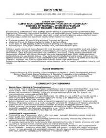 Relations Resume Exles by Client Relationship Manager Resume Sle Template