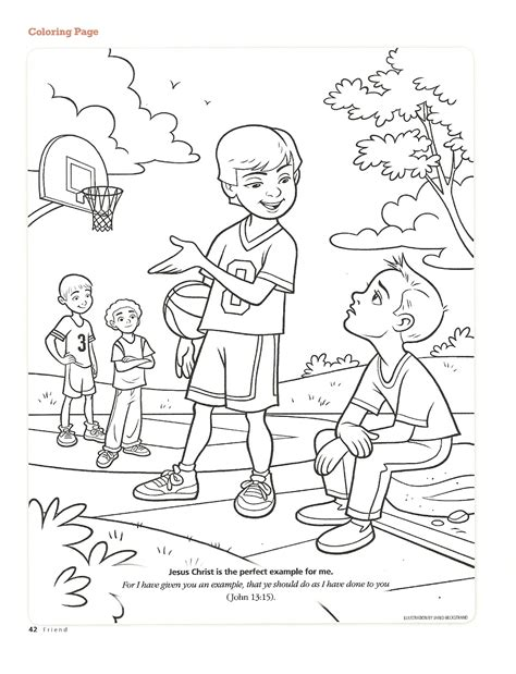 lds coloring pages repentance happy clean living primary 3 lesson 3