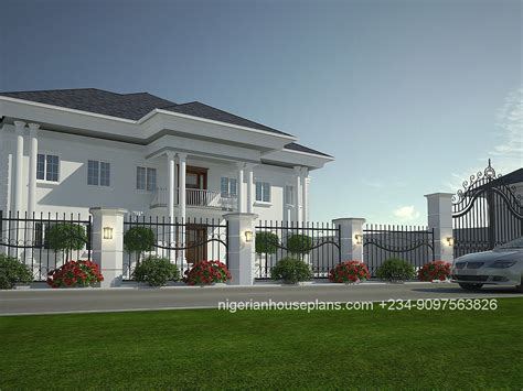nigerian house plan 4 bedroom duplex ref 4011 nigerianhouseplans