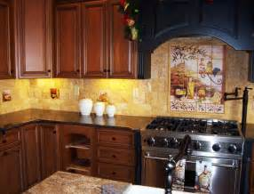 Kitchen Tile Murals Tile Art Backsplashes tuscan style kitchens