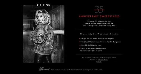 Anniversary Sweepstakes - sweepstakeslovers daily oreo dunk o sweepstakes guess 35th anniversary sweepstakes