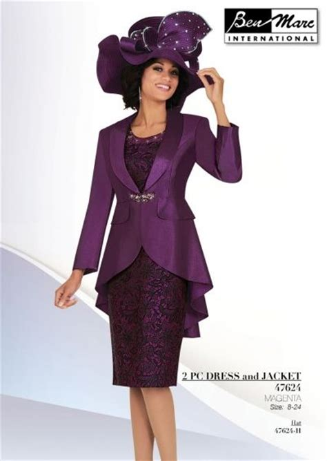 Dress Suit Two Pieces Intl ben marc 47624 womens brocade church suit two