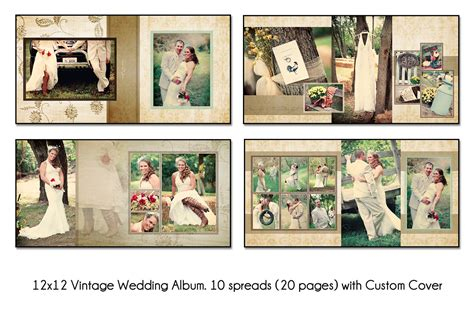 photo layout ideas vintage 12x12 album template 10 spread 20 page