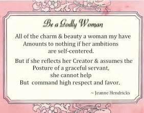 Reverent womanhood a godly woman