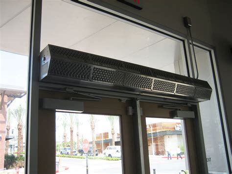 overhead door air curtain commercial low profile 8 air curtain berner