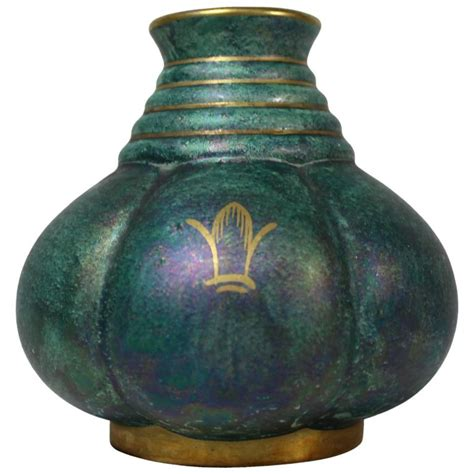 Swedish Vase by Josef Ekberg Swedish Gustavsberg Iridescent Vase At 1stdibs