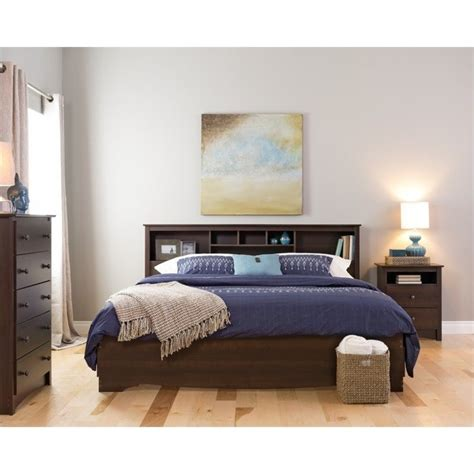 bookcase headboards king king bookcase headboard in espresso finish esh 8445