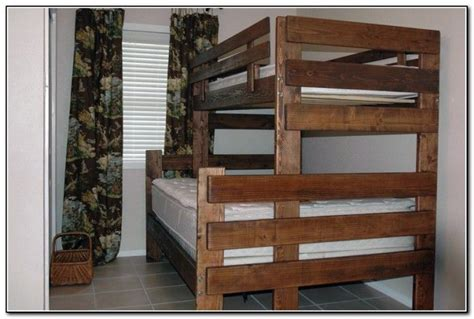twin over queen bunk bed plans best 25 double bunk ideas on pinterest built in