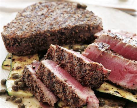 grilled salt and pepper tuna recipe food republic
