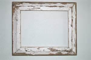 Vintage Wood Frame 11x14 chippy white wood frame reclaimed cottage