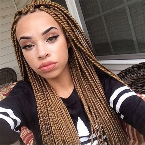lovely 6 dark brown box braids | hairstyles & haircuts for