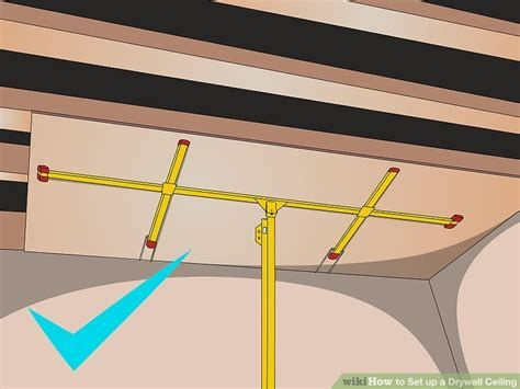 how to set up a drywall ceiling 5 steps with pictures