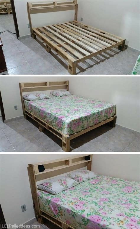 bed frame made out of pallets 353 best images about wooden pallets project on pinterest