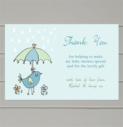 thank you cards baby shower templates baby shower thank you notes sle letter wording