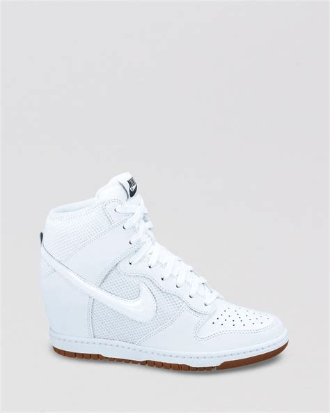 Nike Wedges White nike lace up high top sneaker wedges womens dunk sky hi