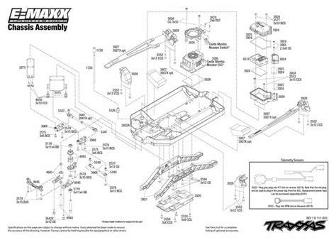 traxxas parts diagram traxxas emaxx parts diagram brushless 3908 chassis