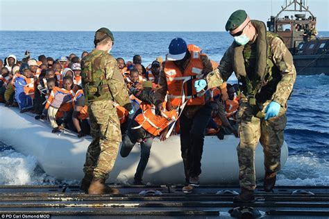 Look Who Is Coming To Brits Rescue by Navy Rescues 400 Migrants From Mediterranean But