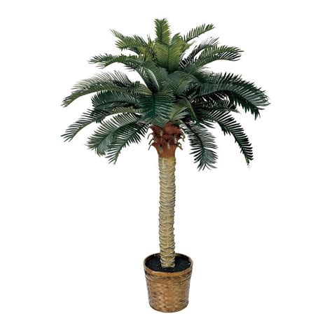 Palm Tree Home Decor by Nearly Natural 5043 Sago Silk Palm Permanent Tree Ebay