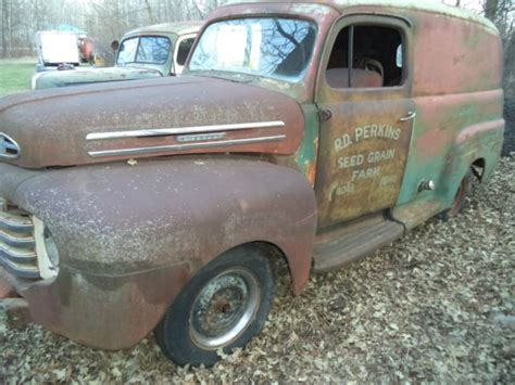 1948 FORD PANEL TRUCK, NICE RUST FREE BODY 1949 1950 for