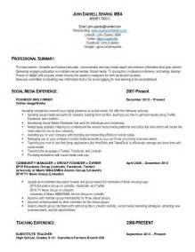 qualifications on resume sle qualifications resume substitute resumes 2016 28 images